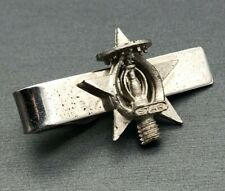 Free Mason Tie Bar Clasp Clip Vintage Hook Fast Prov. R.I. Silver-tone Star