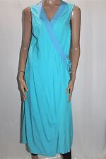 KIMBERLEY CLOTHING BROOME Designer Turquoise Wrap Around Dress Size XL BNWT