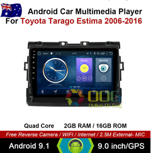 "9"" Android 9.1 Quad Core Car Non DVD GPS For Toyota Tarago Estima 2006-2016"