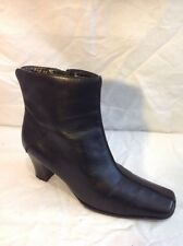 Moshulu Colours Black Ankle Leather Boots Size 37