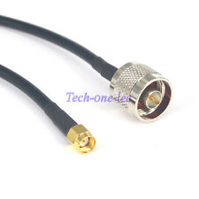 3Ft N Male Plug to RP-SMA Male Cable WIFI Antenna Extension Pigtail Jumper 1M