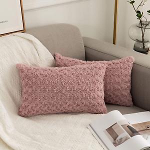 UGASA Velvet Soft Soild Decorative Throw Pillow Covers Set Original Cushion Case