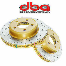 DBA GOLD 4000 XS Slotted + Drilled Rotors FIT Ford Falcon BA XR6 XR8 BF FG Front