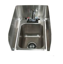 """3-Sided Removable Side Splash for 10"""" x 14"""" Drop in Sinks BBK-DI1014-SS"""