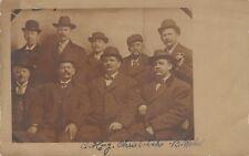 St Joseph MO Mustachioed Men w/Top Hats & Cigars~Schenkle-Wehr-Geest RPPC 1910