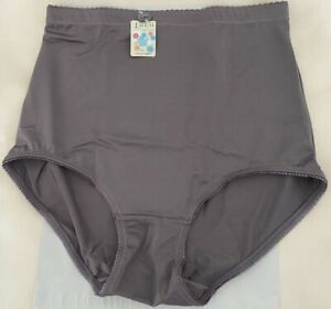 2 Pr Seamless Panties Girdle Briefs Firm Shaper Waist SILVER Gray Plus 3X 4X NWT