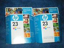 (Lot of 2) NIB Genuine HP 23 Tri-Color Ink Cartridges Expired FEB 2010