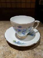 Royal Sutherland Fine Bone China Tea Cup & Saucer Floral