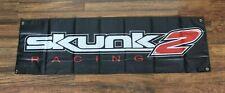 Skunk 2 Racing Banner Flag 1.5' x 5' Performance Auto Parts Car Repair Shop