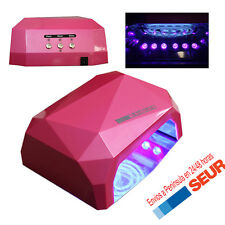Lampara LED CCFL Secador  UV 36W para uñas Gel Ultravioleta ROSA Diamante.
