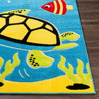 Sea Creatures Multi-Colored Blue/Green 6 Ft. 7 In. X 9 Ft. Area Rug