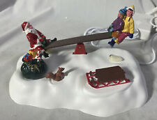 LEMAX ~ SANTA SEESAWS #64042 ~ Animated Table Accent ~ Never Displayed
