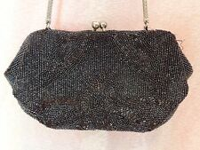 """Vintage """"Bags by Lilly"""" Hand made in Belgium Evening Beads  Bag on chain"""