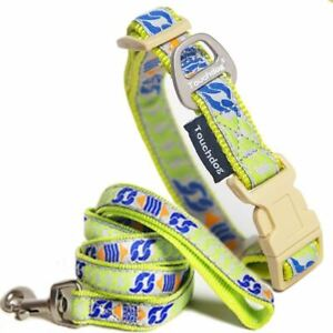Touchdog 'Chain Printed' Tough Stitched Embroidered Collar and Leash