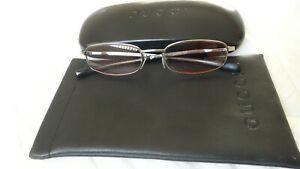 GUCCI- ITALY/140GG1707 6LB/51-18 4[]4 .INCL.CASE +POUCH.SILVER FRAME EYEGLASSES