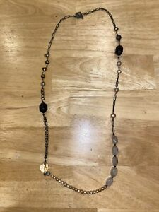 Silpada Pearl & Stone Chain Link Necklace
