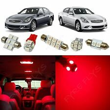 13x Red LED lights interior package kit for 2007-2014 Infiniti G35/G37/Q50 IG2R