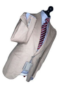 TOM FORD LUXURY SUIT FULL CANVASS TAILORED SLIM FIT CORDUROY CORDS 36x32x30
