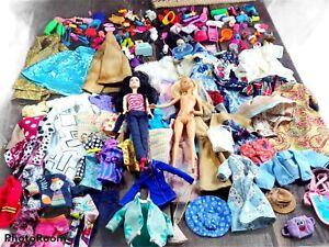 VINTAGE BARBIE DOLL CLOTHES LOT ORIGINAL + VINTAGE HOMEMADE 200 + MEGA LOT