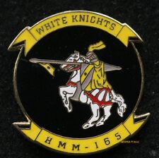 HMM-165 WHITE KNIGHTS LAPEL HAT PIN UP US MARINES VETERAN PILOT CREW MCAS CH-46