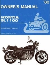 1980 HONDA GL1100 GOLDWING MOTORCYCLE OWNERS MANUAL -HONDA GL 1100 GOLD WING