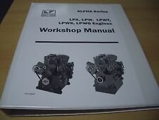 LISTER LPA, LPW, LPWS, LPWT ALPHA ENGINE WORKSHOP MANUAL 027-08240