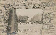 Cambridge MA * Harvard Square & Trolleys RPPC 1906 * Unusual Border
