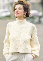 140 Knitting Pattern Lady/'s Chunky Cable Cropped Jacket//Cardigan 76-97 cm