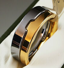 Mens Tungsten Carbide Ring Silver Wedding Engagmnet  Band Size Y 21.4 mm 10