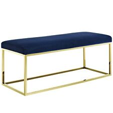 Modway Anticipate Fabric Bench - Gold Navy