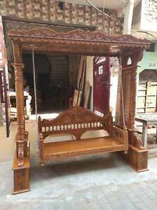 Wooden swing Hammock for garden Living Room Swing chair, Jhula, 2 3 seater, Brow