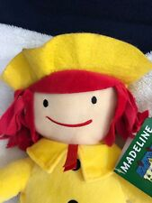 "New With Tags Madeline Stuffed Plush Doll 13"" yellow coat hat Perfect kohl's"