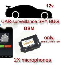 CAR GSM remote audio listening device SPY BUG microphone PHONE 12V
