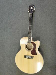 Washburn Acoustic Guitar Jumbo, Flamed Maple with Pickup HJ40SCE-0