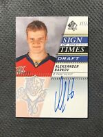 2019-20 SP AUTHENTIC ALEKSANDER BARKOV SIGN OF THE TIMES DRAFT AUTO #SOTTD-AB