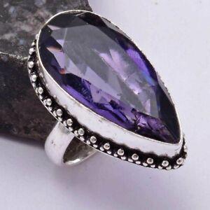 Amethyst Ethnic Handmade Ring Jewelry US Size-6.75 AR 39089