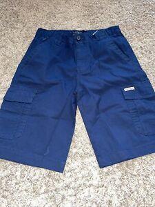 NWT Boy's Lucky Brand Navy Blue Cargo Shorts Youth Medium 10-12 or Large 14-16