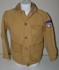 Vintage Canvas Aged Worn Twin Cities Rod & Gun Club Light Hunting Jacket Rare