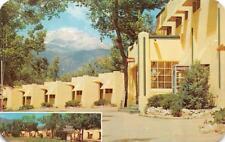 CO, Colorado Springs  BEVERLY HILLS COURT MOTEL Roadside c1950's Chrome Postcard