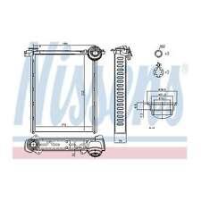 Genuine Nissens Heat Exchanger Interior Heater Matrix - 71162
