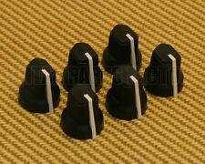 099-0932-000 Set of 6 Genuine Fender Standard Black Amp Amplifier Pointer Knobs