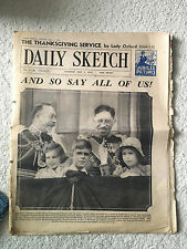 ORIGINAL DAILY SKETCH TUESDAY MAY 7, 1935 JUBILEE PICTURES