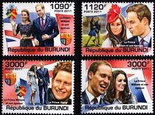 2011 ROYAL WEDDING Prince William & Kate/Catherine Middleton Stamp Set (Burundi)