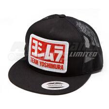 Yoshimura Men's Motorcycle MX Team Trucker Snapback Hat/Cap - Black
