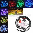 """2X48"""" 2X36"""" Under Car Underbody 7 Color LED Glow System Neon Light Strip Kit new"""