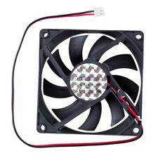 DC 12V 0.18A 2 Pin Connector PC Computer Case Cooling Fan 80x80mm CT D8M2 O E7Y2