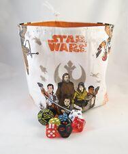 Star Wars Dice Bag - The Last Jedi - Cotton Drawstring Tile Pouch - Destiny Bag