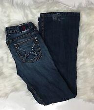 Women's People's Liberation Bella Jeans 27 Low Rise Designer Star Pocket