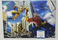 Chris Sabat signed 18x13 inch Displate Metal All Might My Hero Academia BAS