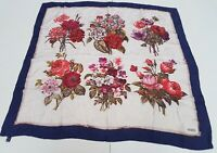 Foulard erre fiori flower 100% silk pura seta original made in italy handmade